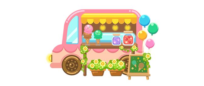 フードトラック(アイスクリーム移動販売車)