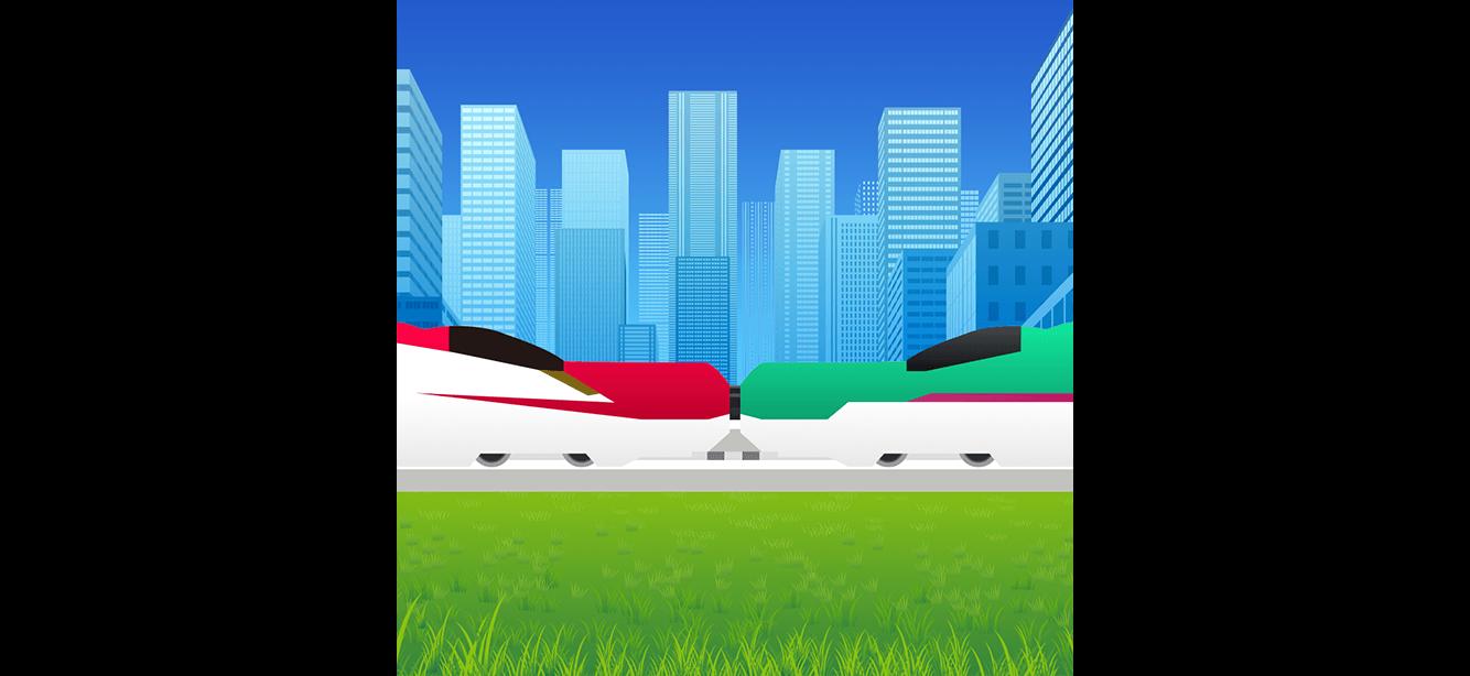 電車ゲームアプリの初稿アイコンデザイン案