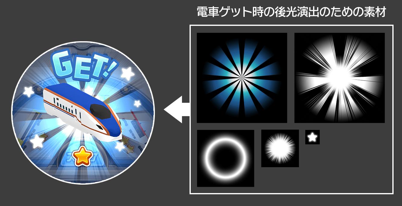 「電車ルーレット」のUIアニメーション用素材