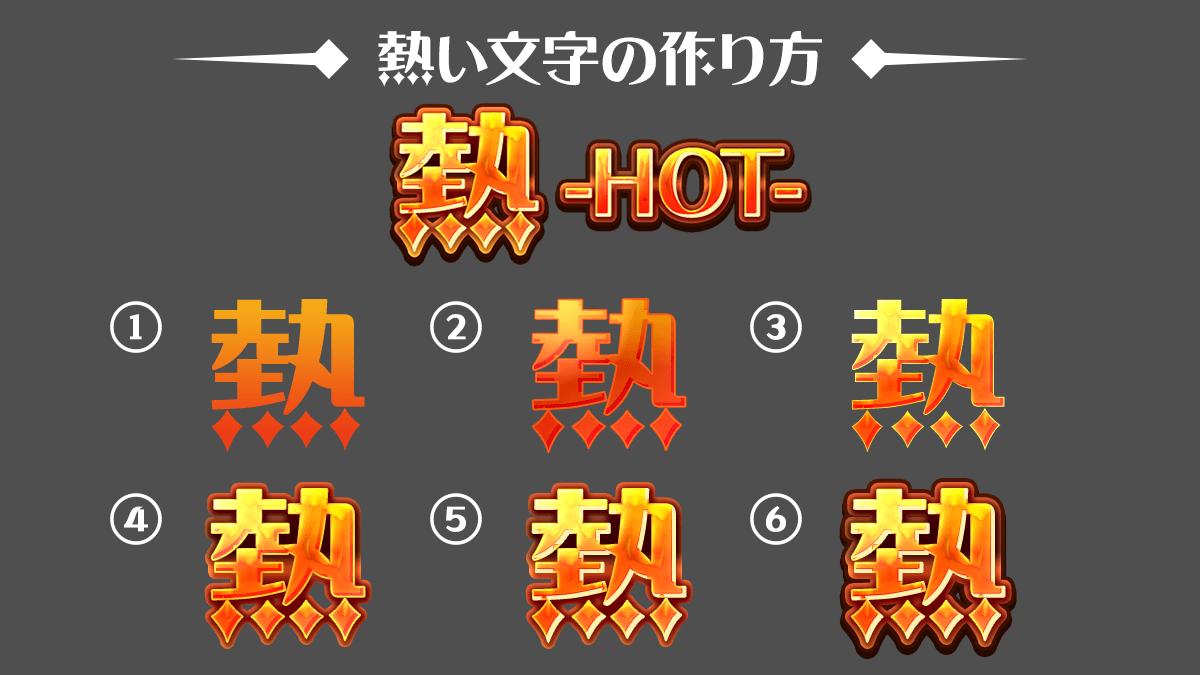 熱い文字の作り方