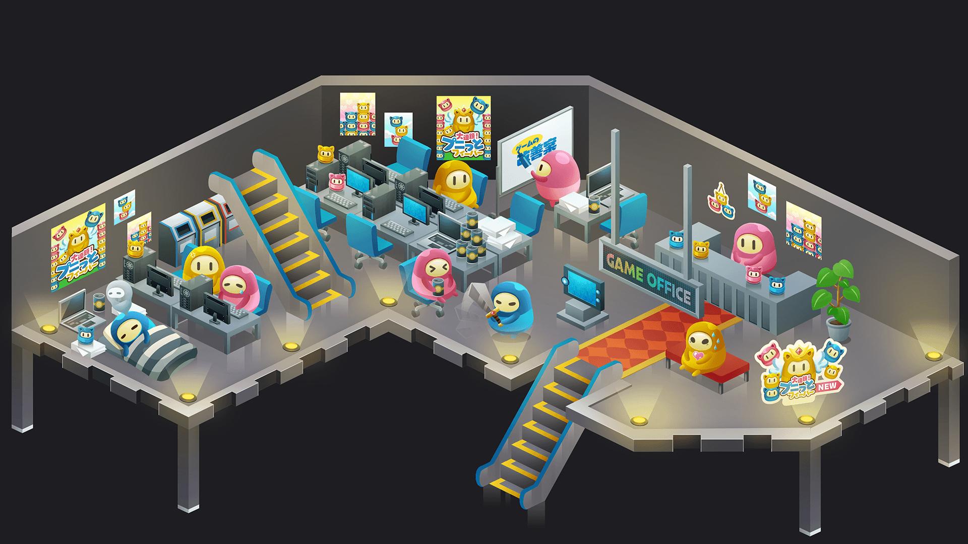 ゲーム会社オフィスエリア全体